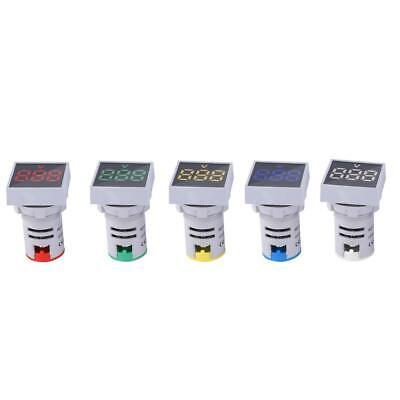 Ac12-500v Led Indicator Mini Digital Led Display Voltmeter Square Signal Lamp