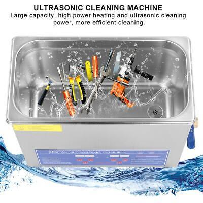 6l Digital Ultrasonic Cleaning Machine Heated Cleaner Bath Tank Timer Industry