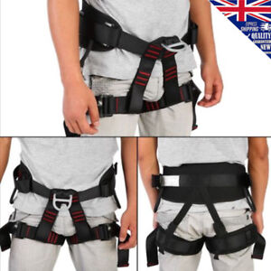 New Outdoor Heavy Duty Tree Climbing Rappelling Belt Rigging Rock Harness Safety