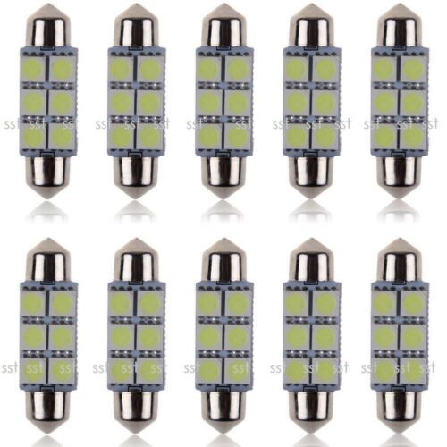 Car Parts - 10x 31 36 39 41mm Car Interior Light Number Plate Bulb C5W Festoon LED Bulbs