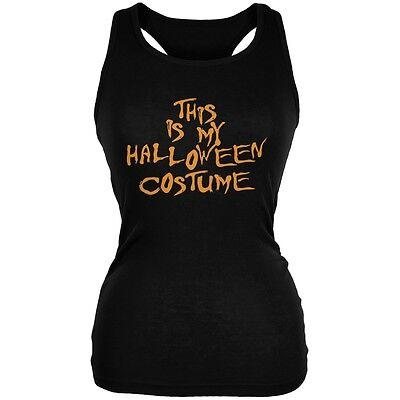 Cheap Junior Halloween Costumes (My Funny Cheap Halloween Costume Black Juniors Soft Tank)