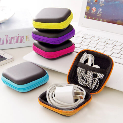 Storage Bag Carrying Hard Hold Case For Earphone Headphone Earbuds SD  TF Cards