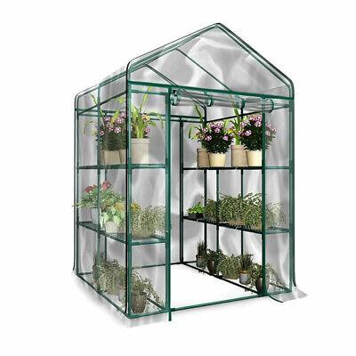 Plástico PVC Invernadero Caja de Cultivo Funda 3 Nivel Planta Jardín Almacenaje