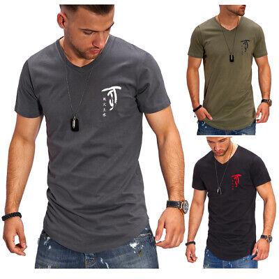 JACK & JONES T-Shirt Longline Oversize Herren Poloshirt Schwarz/Weiß/Grau NEU