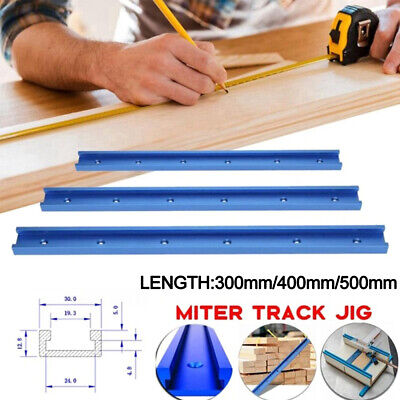 Aluminium T-Track T-Slot Miter Fixture Tool For Woodworking Router Tablesaw