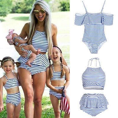 USA Family Matching Women Kid Baby Girls Bikini Bathing Suit Swimwear - Swim Suit Girls