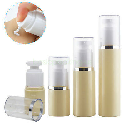 30ml 50ml 80ml Refillable Empty PET Cosmetic Lotion Creme Container Pump Bottles