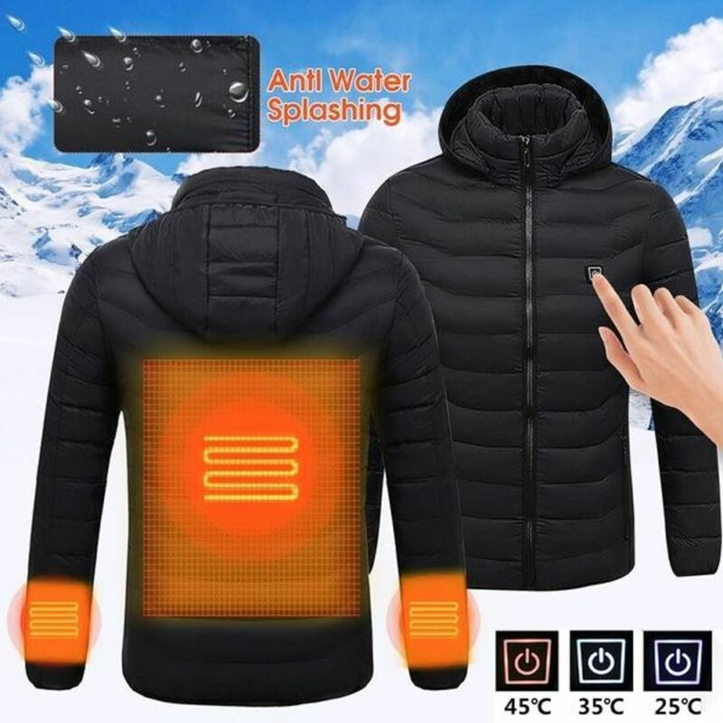 Heated Hunting Clothes >> Details About Usb Heater Hunting Vest Heated Jacket Heating Coat Winter Clothes Men Thermal