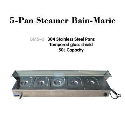 Food Warmer Steam Table 5-pan Steamer Bain-marie 110v Buffet Countertop 1500w