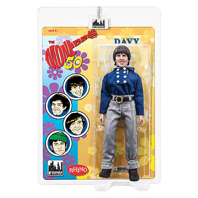 The Monkees 8 Inch Retro Style Action Figures: Blue Band Outfit: Davy Jones