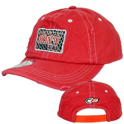 Dont Tap - Real Men Dont Tap Cage Fighter Martial Arts Distressed Garment Wash Snapback Hat