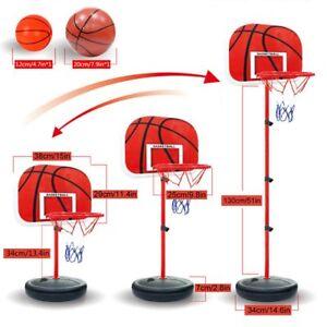 Pellor Kids Indoor Outdoor Basketball Net Hoop Backboard Adjustable Stand Toys