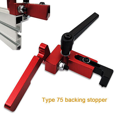 DIY Woodworking Tool Miter Track Stop For T-Slot T-Track Manual Aluminum Alloy # Clamps & Vises