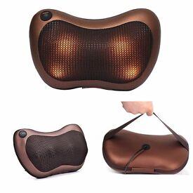 Deep Relax Massage Pillow Electric Massager Heat Neck / Back / Shoulder Cushion