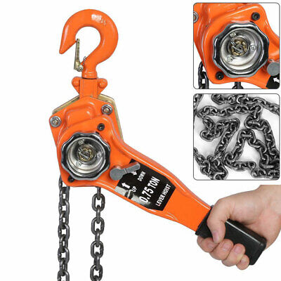 0.75 Ton 3m Chain Puller Block Fall Chain Lift Hoist Hand Tools Chain With Hook