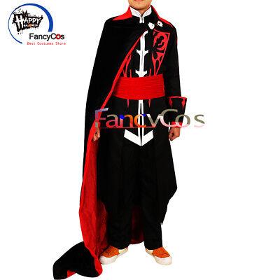 2018 Castlevania Dracula Uniform TV Costume Vampire Cosplay Halloween Game