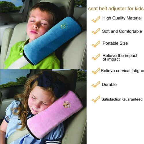 Car Seat Belt Pillow For Kids Car Seat Travel Head Cushion Washable Pack of 2