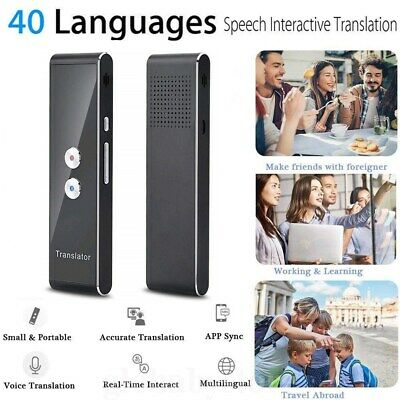Portable Instant Voice 2Way Translator Bluetooth 40 Languages Translation Travel