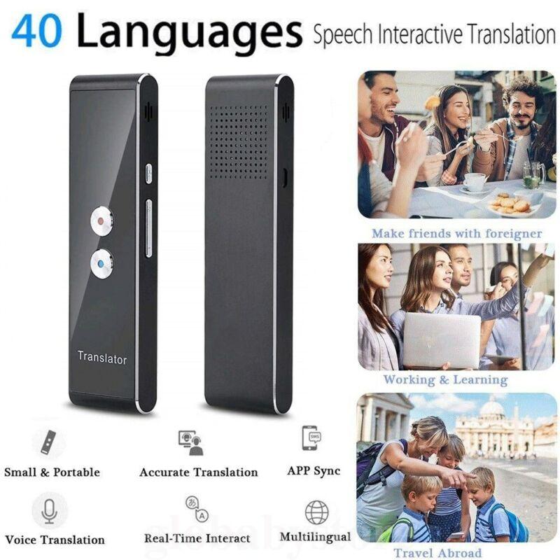 Portable Instant Voice 2Way Translator Bluetooth 40 Languages Translation Travel