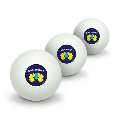 Peeps Chick Magnet with Bunny Licensed Table Tennis Ping Pong Ball 3 Pack