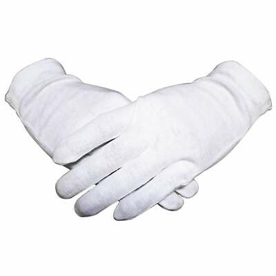 New 12 Pairs Of Thin White Cotton Gloves