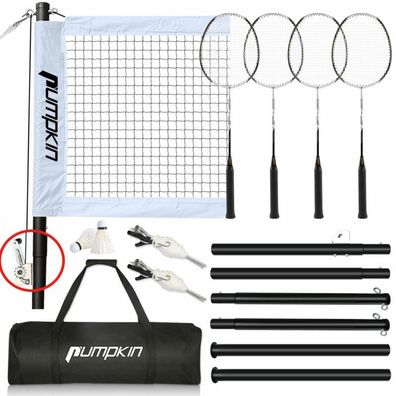 Portable Badminton Net Set With Stand, 600D Handbag Easy Setup for Outdoor Games