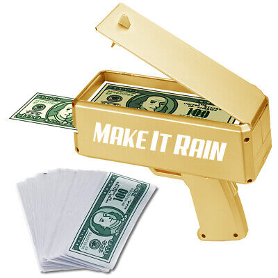 NEW!  MAKE IT RAIN GOLD SPRAY GUN - MONEY SHOOTER - PARTY CELEBRATION MONEY