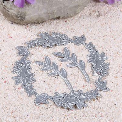ng Blumengirlande Blätter Metall Stanzformen Schablone Papier (Papier Blumen Girlande)