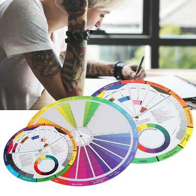 3Pcs Tattoo Pigment Color Wheel Paper Card Color Blending Guide Tattoo Supplies