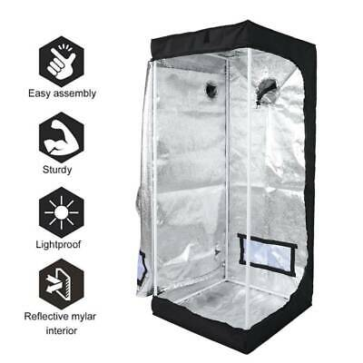 Complete Small Grow Tent Kit Grow Light Indoor Hydroponics System 600D Oxford