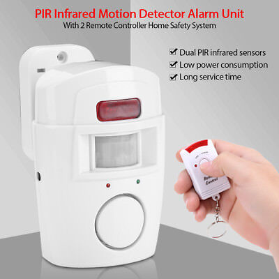 Remote Control Wireless Infrared Motion Sensor Alarm Security Home System JS
