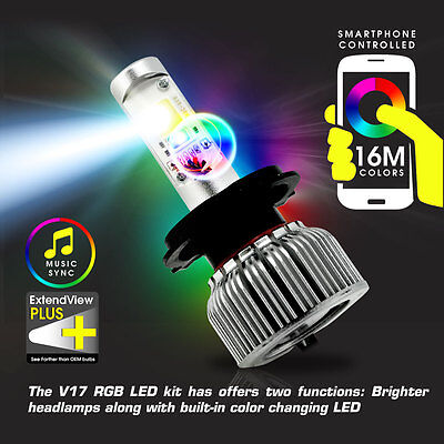 HYBRID 2-in-1 LED Xenon Conversion Kit 6000K + RGB Color Bluetooth Controlled