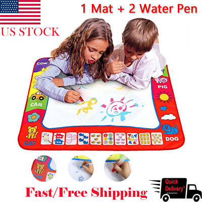 US Drawing Water Pen Painting Magic Doodle Aquadoodle Mat Board Kid Boy Girl (Doodle Board)