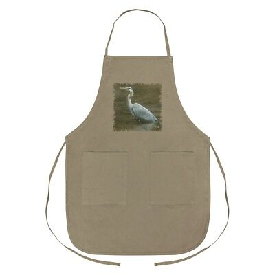 Great Blue Heron Apron With Pockets