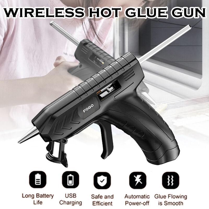 Cordless Hot Melt Glue Gun & 10 Glue Sticks Rechargeable Applicator Home Craft