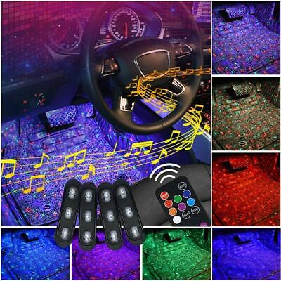 Car Interior Foot Light USB LED Atmosphere Ambient Starry lights DJ mixed music