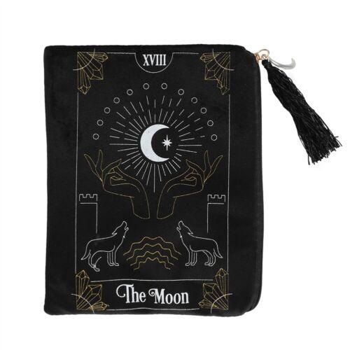 * Zippered Tarot Bag Black The Moon Large Tarot Bag Wiccan Pagan Witch