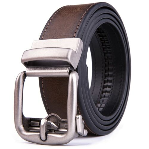 Ratchet Belt For Men Leather Dress Belts With Automatic Buckle,1.5inch Width