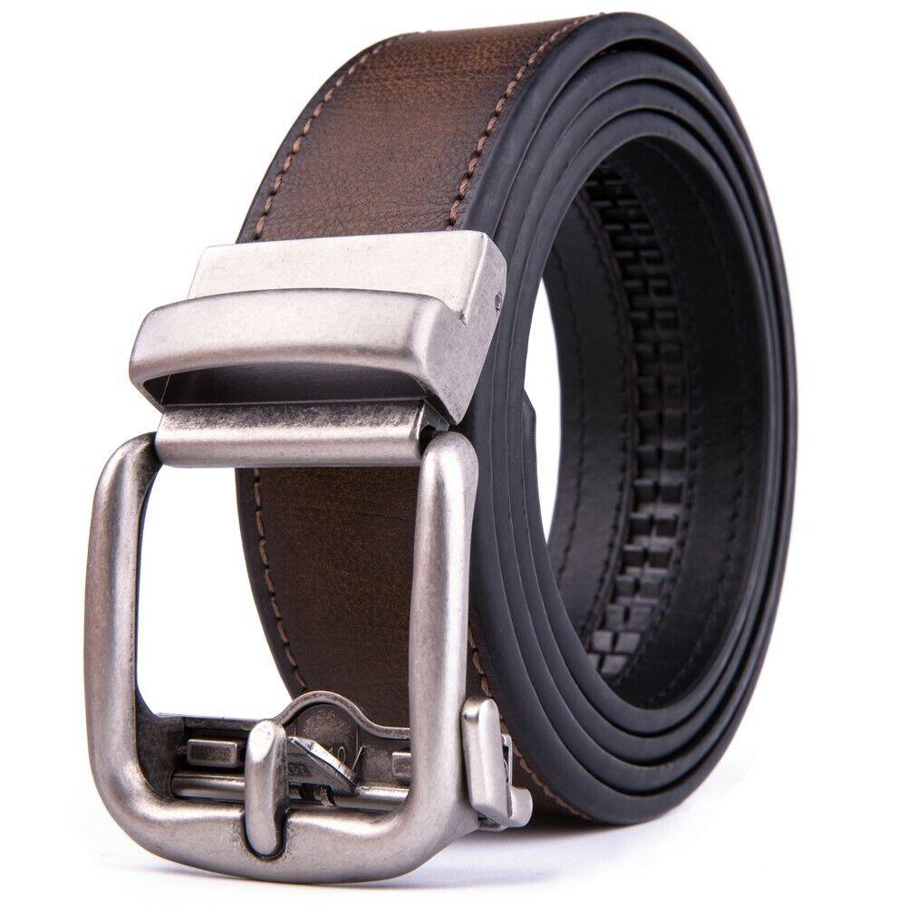 Ratchet Belt for Men Leather Dress Belts with Automatic Buckle,1.5inch width Belts