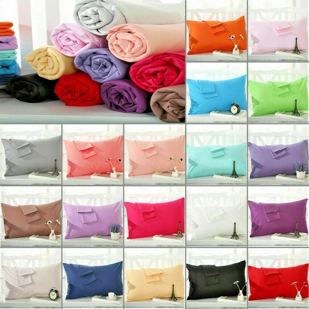 standard size cotton pillow case queen size 20'' x 30''  set