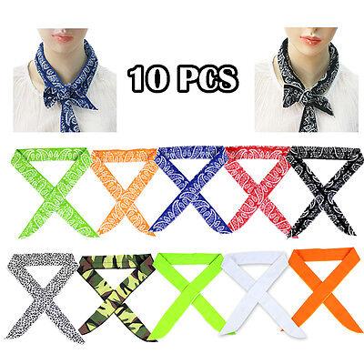 (10PCS / SET Bandana ICE SCARF Neck Wrap Cooling Scarf Headband Cool Wear)