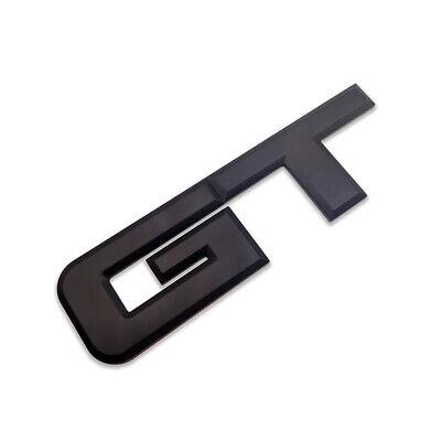Black Metal GT Logo Emblem Car Rear Badge Sport Sticker Turbo Decal For Mustang