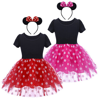 Baby Girl Kids Minnie Mouse Costume Birthday Party Princess Tutu Dress Outfits