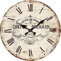 Vintage Wall Clock 10 Roman Rustic Decor Shabby Chic Home Kitchen Arts Hot Wood