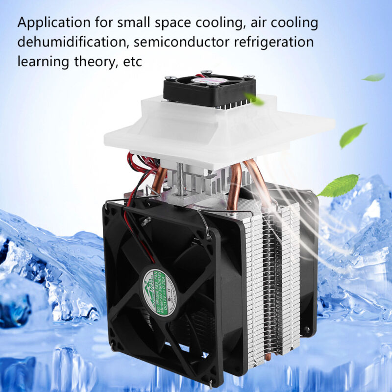 12V Thermoelectric Peltier Refrigeration Cooling System Kit Cooler With Fan Hot!
