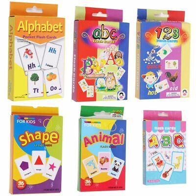 Flash Cards For Kids Toddlers Educational Early Learning Preschool Kindergarten