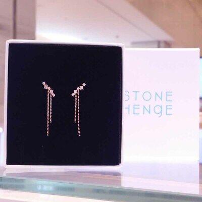 [STONE HENGE] Silver 925 Dangle Drop Earrings SC0813 with Case