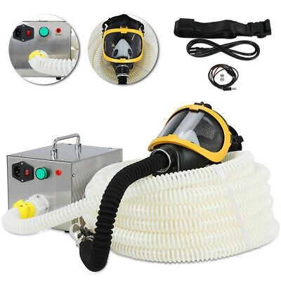 20m 66ft Long Pipe Electric Supplied 80w Air Fed Full Face Gas Mask Respirator