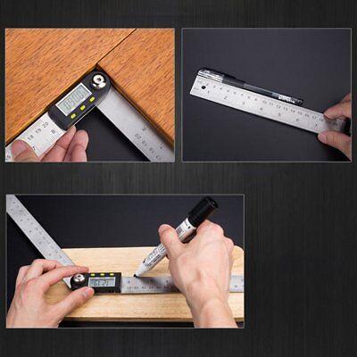 2in1 Digital Angle Finder Meter Folding Ruler Measurer 200mm 360 Protractor Ml