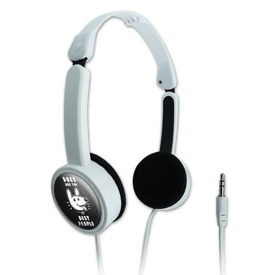 Dogs are the Best People Funny Humor Travel Portable On-Ear Foldable (Best Headphones On Ears)